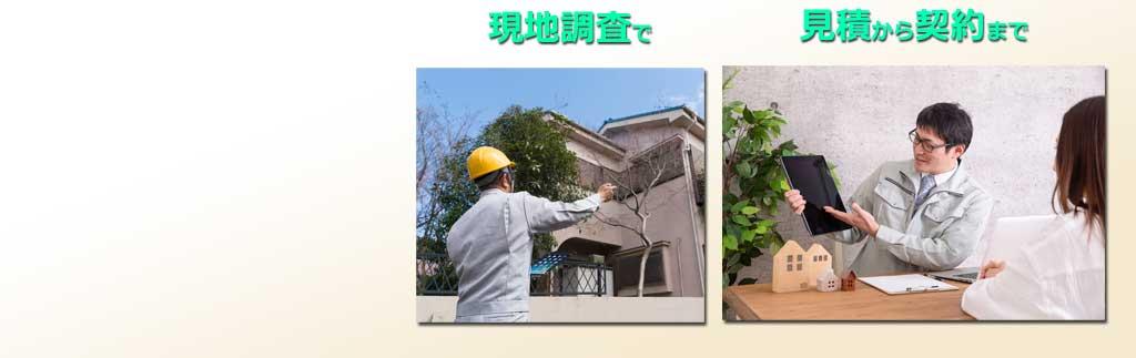 塗装業専門営業ツール、現場で見積と契約